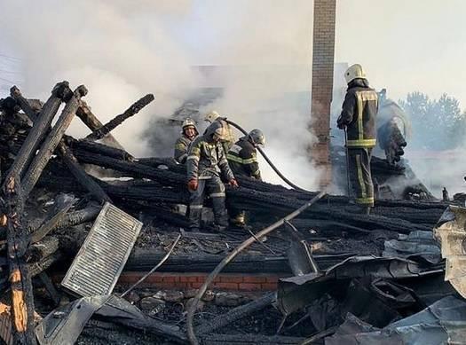 В деревне Никулино сгорел частный дом